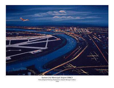 "Braniff Airways Boeing 727-100 ((16""x20"")) Print"