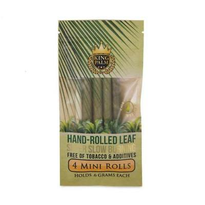 King Palm Mini Rolls Leaf Organic - 1 PACK - Natural 4 Per Pack Filter