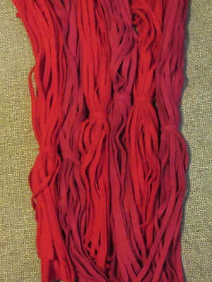 #6 Valentine's Day  150 Wool Strips for Primitive Rug Hooking