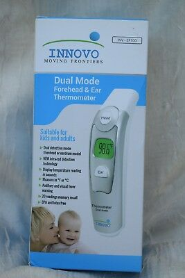 Ear & Forehead Digital Thermometer Innovo Dual Mode Infra-red Baby Child Adult