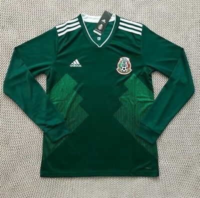04f7ddfbd59 Mexico National Soccer Team New Men s Home Green Long Sleeve Soccer Jersey  - L
