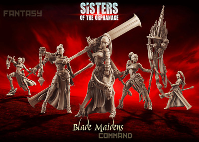 Raging Heroes Sisters of the Orphanage - Blade Maidens - Command Group