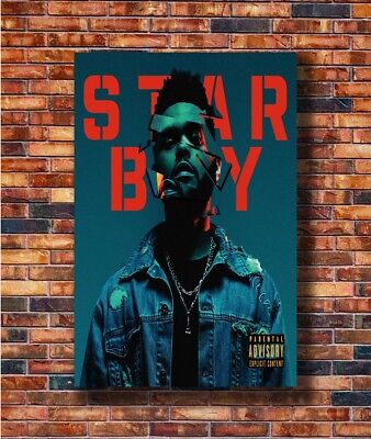 Art The Weeknd Starboy Rapper Hip -20x30 24x36in Poster - Hot Gift C3069
