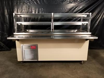 Colorpoint 6' Refrigerated Salad Bar w/ Glass Sneeze Guard