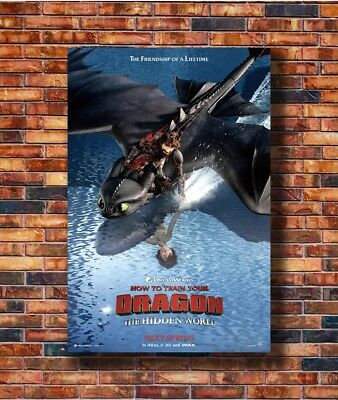 Art How to Train Your Dragon 3 The Hidden World Movie Poster - Hot Gift C1227