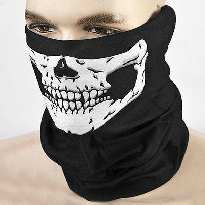 1PC Black Skeleton Ghost Skull Face Mask Biker Balaclava Costume Cosplay Mask