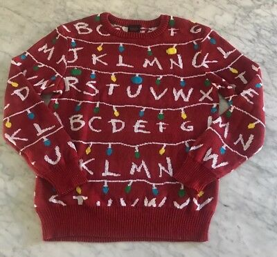 Stranger Things Target Exclusive Light Up Ugly Sweater Christmas Red