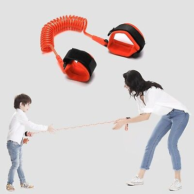Toddler Kids Safety Walking Anti-lost Tretchy Spring Harness Strap Wrist Leash