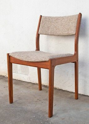 Mid Century Danish Modern Solid Teak Dining Chair by D Scan