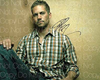 """Paul Walker 8x10/"""" reprint signed photo #2 RP The Fast and the Furious"""