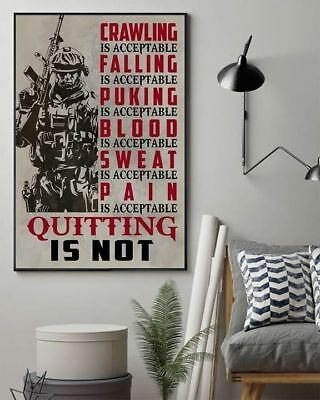 Veterans Quitting Is Not Poster 11-36 Inches Unframed Poster US Supplier