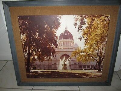 Vintage Retro framed board photo picture Royal Exhibition Buildings 1960's/70's