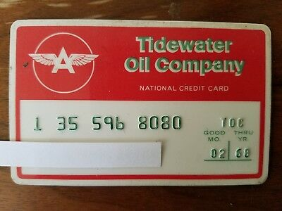 Vintage Tidewater OIl Company credit card