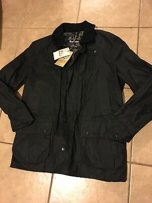 NEW Barbour Lightweight Ashby Wax Jacket Size Large in Black  $399 MSRP NWT
