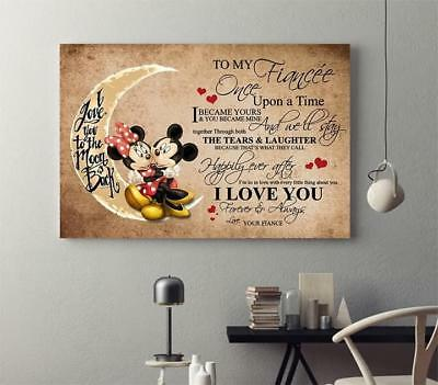 Mickey Minnie To My Fiancée Poster 11-36 Inches Unframed Poster US Supplier