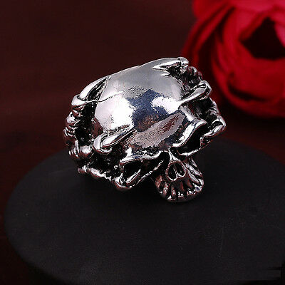 Men Biker Ring Skull Rings Gothic Size 8 9 10 11 Gift Punk Cool Steel Retro t