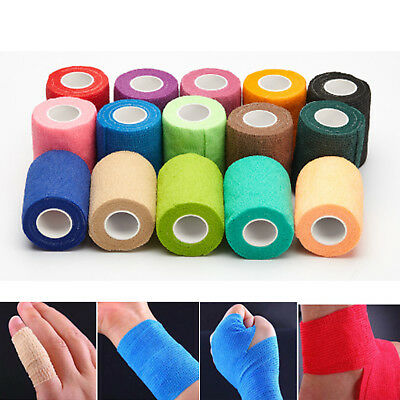 5cm 4.5m Self Adhesive Elastic Bandage Tape Medical Finger Muscles Ankle Wrap