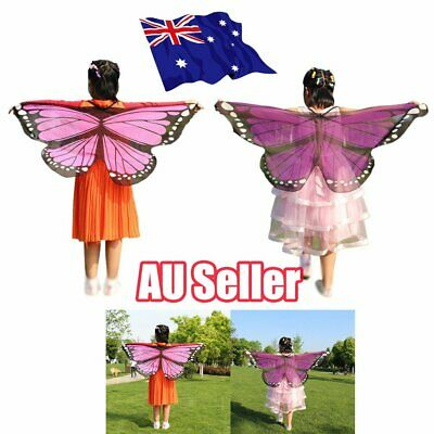 Scarf Kid's Butterfly Wings Print Shawl Girl Boy Clothes Accessory Costume MN