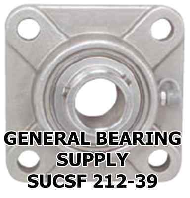 """Premium SUCSF205-14 7//8/"""" Stainless Steel 4-Bolt Flange Bearing"""