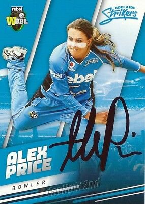 ✺Signed✺ 2018 2019 ADELAIDE STRIKERS Cricket Card ALEX PRICE Big Bash League