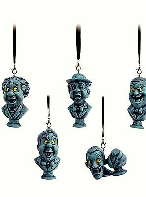 Disney Parks The Haunted Mansion Singing Busts 5 Piece Set Christmas Ornament