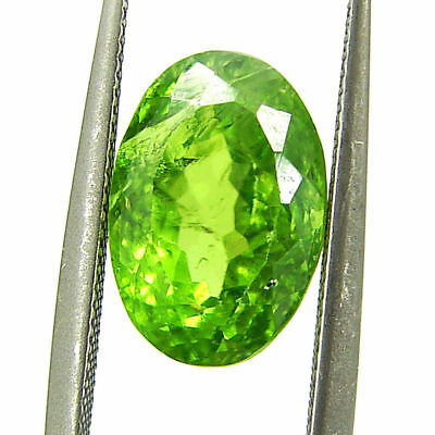 4.00 Ct Natural Green Peridot Loose Gemstone Oval Cut Stone - 7603