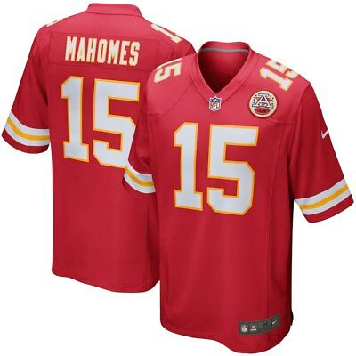 Men's Kansas City Chiefs Patrick Mahomes #15 Red Game Jersey M-3XL