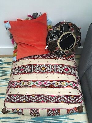 Moroccan Pouffe Seat Livingroom Outdoor Large