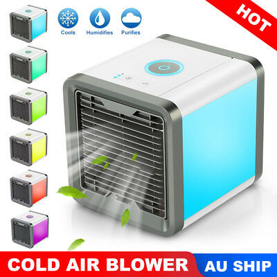AU NEW Portable Mini Air Conditioner Cool Cooling For Bedroom Cooler Fan Chill