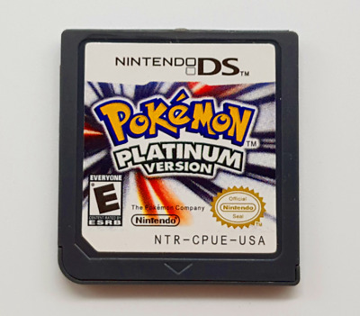 Pokemon Platinum Version DS 3DS English Console Video Game Play Now !