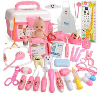 20-39Pc Doctor Medical Toy Set Nurse Carry Box Kid Role Play Pretend Kit Case UK