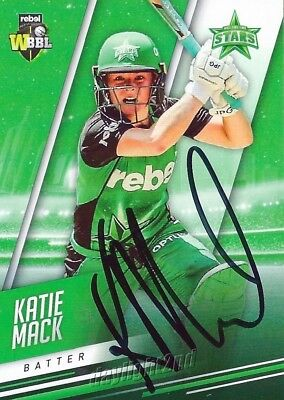 ✺Signed✺ 2018 2019 MELBOURNE STARS Cricket Card KATIE MACK Big Bash League