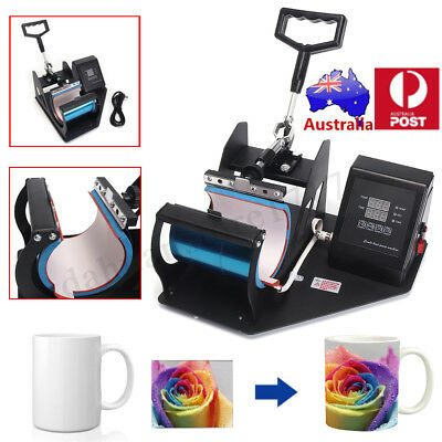 DIY Digital Heat Press Transfer Printer Coffee Mug Cup Plate Sublimation Machine