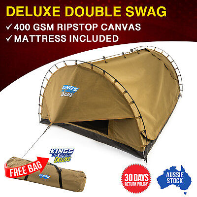 Kings Big Daddy Deluxe Double Dome Swag Free Standing Aluminium poles with Bag