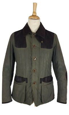 Barbour Mens Rare Ltd Edition To Ki To Olive Green Wax Cotton Sporting Jacket, M