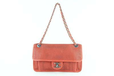 ef403e2953aa45 Chanel Classic Flap Coral Up In The Air Chain Red-orange Shoulder Bag  5ce0103