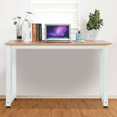 Burlywood Computer Desk Wooden Foldable PC Table Home Study Office Workstation