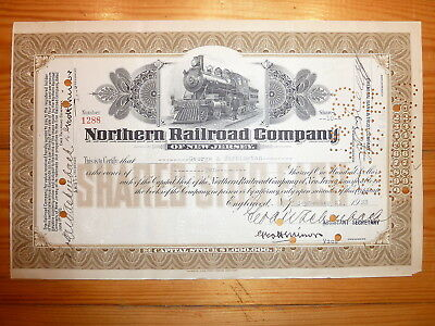 RR: Northern RRCo. of New Jersey, Englewood, 1933, div. Shares, *