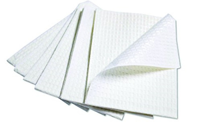 """Avalon Papers 1051 Dental Bib Polyback Towel, 2-Ply Tissue + Poly, 13'' x 18"""","""