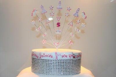 Outstanding Princess Unicorn Crown Birthday Cake Topper Personalize With Funny Birthday Cards Online Elaedamsfinfo