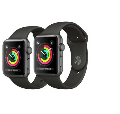 Apple Watch Series 3 42mm Aluminium Smartwatch / Uhr / Fitnesstracker / Clock