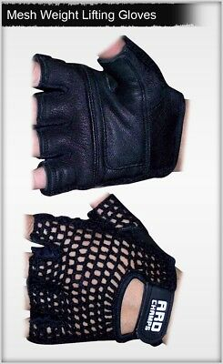 ARD Champs Mesh Net Weight Lifting Gloves Leather inside Gym workout