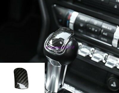 Carbon Fiber Interior Gear Lever Shift Knob Cover Trim For Audi A3 8V 2014-2019