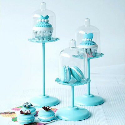 Gzhel Porcelain 2-Layer Dessert Rack Cake Stand Cupcakes Server Pastry Stand