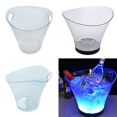 Acrylic Ice Bucket Wine Drinks Beverage Pail Cooler Champagne Display Clear