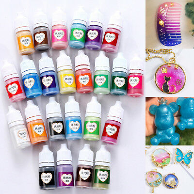 5ml Crafts Pigment Powder Epoxy Rainbow DIY Art Metal Color Pearlescent UV Resin