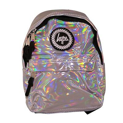71d78f08cf6 Hype Holo Silver Mini Backpack Bag - Festivals - Kids School Bag - Delivers  Fast