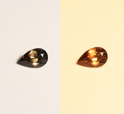 0.39ct BiColour Colour Change Axinite - Rare Gem Quality With Excellent Clarity