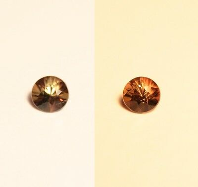 0.4ct BiColour Colour Change Axinite - Rare Gem Quality With Excellent Clarity