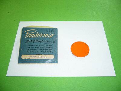 208R01 Panchromar Lichtfilterglas 29 mm passend f. 31 32 33 34, orange 3-4 fach